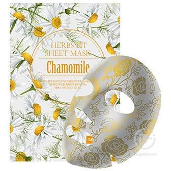 Увлажняющая тканевая маска с экстрактом ромашки, 25 мл/ Skin Maman Herbs Fit Sheet Mask Chamomile, Nohj (Нох)
