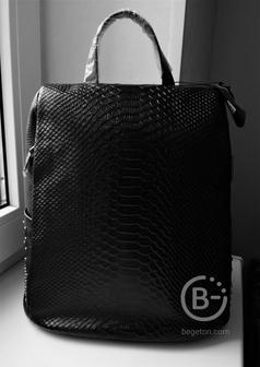 Кожаный рюкзак-антивор