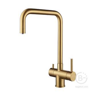 Смеситель Paulmark Смеситель для кухни Wetter, брашированное золото, We213030-BG, Paulmark