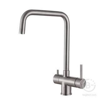 Смеситель Paulmark Смеситель для кухни Wetter, нержавеющая сталь, We213030-SS, Paulmark