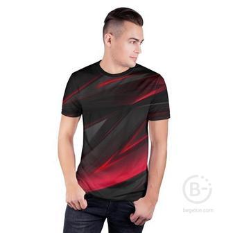 Мужская футболка 3D спортивная GEOMETRY STRIPES | ГЕОМЕТРИЯ