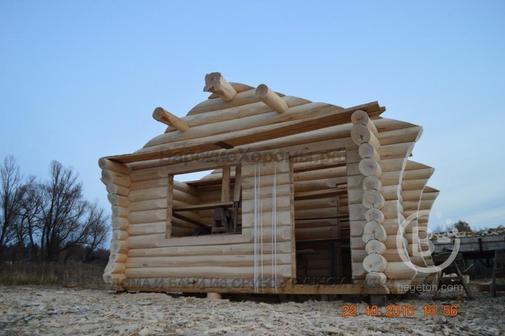 Сруб бани 6х6 с парной, моечной и комнатой отдыха. Доставка из Пензы в любой регион.