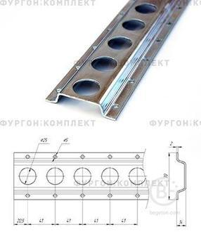 Стальная рейка ТРС70-2 длина 3 метра