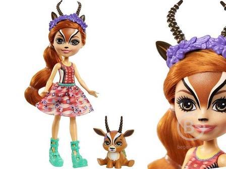 Кукла Enchantimals Gabriela Gazelle с питомцем