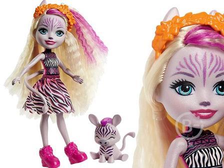 Кукла Enchantimals Zadie Zebra с питомцем