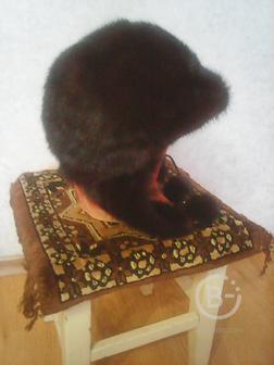 Продам  женскую норковую шапку ушанку
