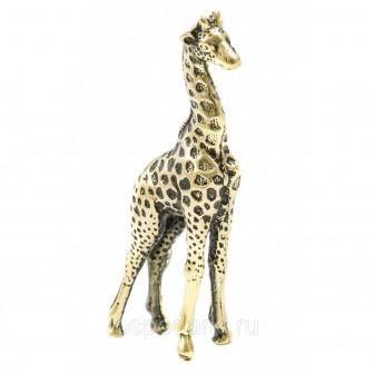 Фигурка литая Жираф маленький, латунь ( в подарочной упаковке)