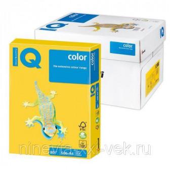 Бумага IQ (АйКью) color, А4, 80 гм2, 500 л, интенсив ярко желтая, IG50