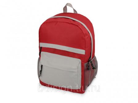 Рюкзак Универсальный, красныйсерый