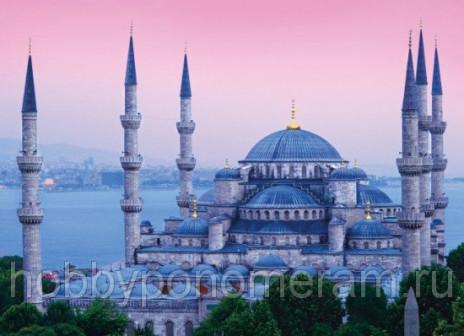 Алмазная вышивка Голубая мечеть Размер 50 х 70 см Квадратные стразы