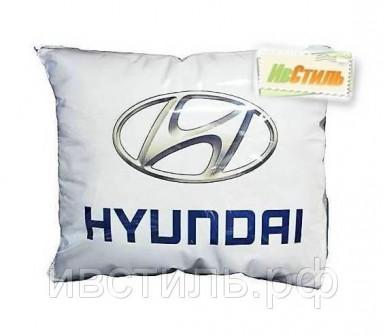 Подушка декоративная с логотипом авто, квадратная хундай