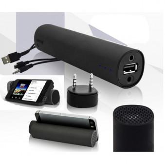 Универсальное устройство 3 в 1: внешний аккумулятор 4000 мАч + колонка + подставка для смартфона