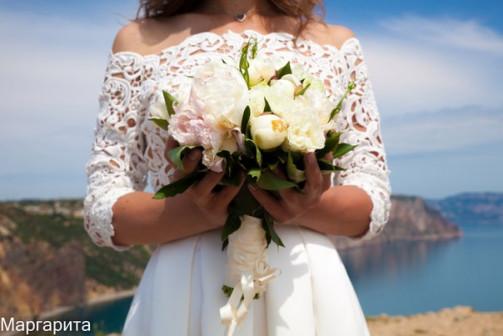 Свадебный букет невесты в Крыму!