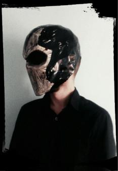 Декоративный крафтовый шлем.
