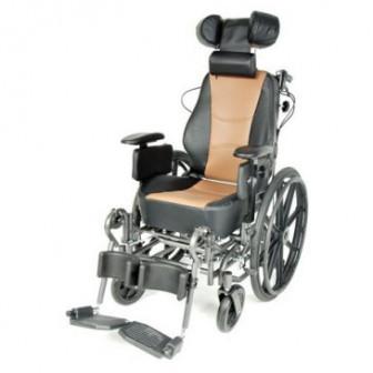 Кресло коляска механическая стальная FS204BJG арт МдТМ24580