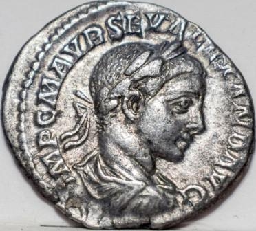 Древний Рим Марк Аврелий Север Александр 1 денарий 222-235 н.э.Серебро Оригинал