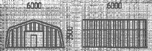 АНГАР прямостенный 6х6м h=35м   НОВЫЙ