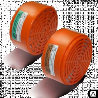 Запасные фильтры к респиратору РУ   60 м (Бриз 3201) марки А1Р1