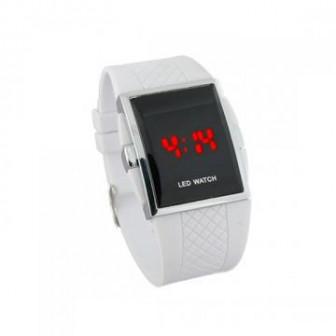 Светодиодные часы   белые
