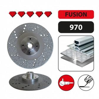 Алмазный диск для резки сплошной кромкой и шлифования стали Leman 125 мм
