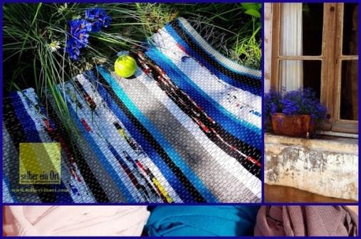 Домотканые половики ручной работы из старой одежды ( нарезаных лент) заказчика.