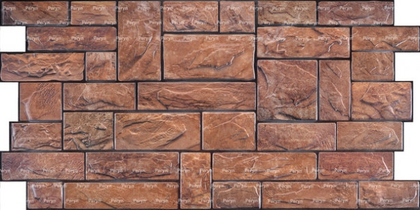Панель ПВХ 0,3 Камень пиленный настоящий коричневый