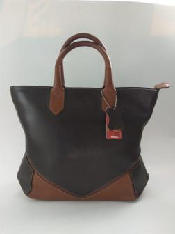 Женская кожаная сумка, chocolate