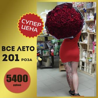 ЛЕТНЯЯ АКЦИЯ! Букет из 201 розы