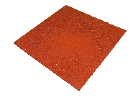 Резиновая плитка EcoStep 500x500 мм, 40 мм