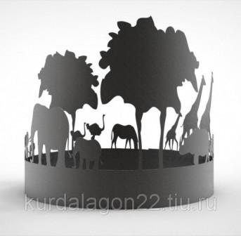 Кольцо   чаша для костра Африка