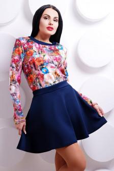 Яркий костюм юбка+кофта