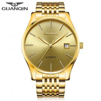 GJ16056 GUANQIN мужчины автоматические механические часы Золотой