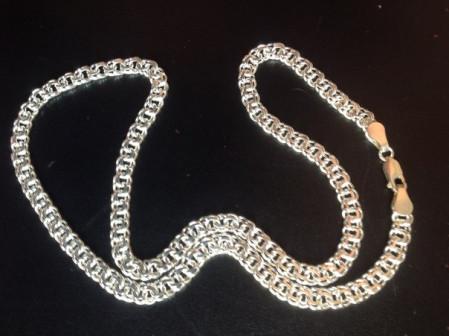 Цепи и браслеты бисмарк серебро 925 пробы