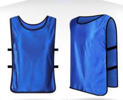 Манишка футбольная детская Синяя Размер одежды L (рост 125 140 см) (Манишки футбольные)