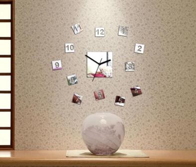 Зеркальные часы Квадрат
