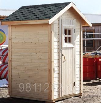 Туалет дачный деревянный Домик, Размер туалета 1,4х1,4м Подходит под торфяной биотуалет, яму