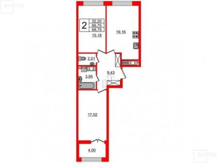 Продам двухкомнатную квартиру на Крестовском острове