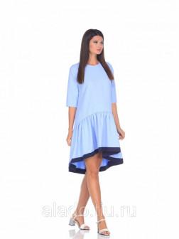 Платье для беременных голубой Nuova Vita 215903