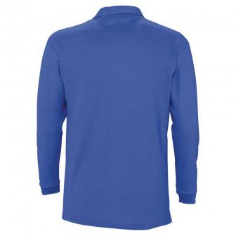 Рубашка поло мужская с длинным рукавом WINTER II 210 ярко синяя