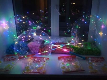 Светящиеся светодиодные шары Bobo LED