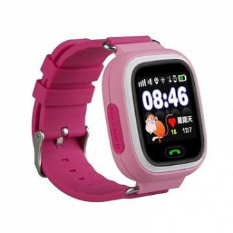 Smart Baby Watch Q80   умные детские часы с GPS, розовые