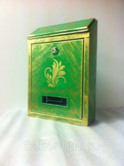Почтовый ящик (зеленый+золото)