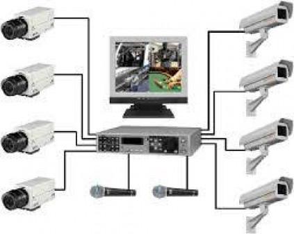Установка видеонаблюдения, комплект 4 камера (аналоговые камеры , 700ТВЛ)