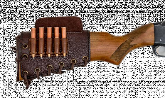Патронташ на приклад 5 патронов Царская охота СНО (для нарезного оружия)  кожа