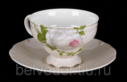 Набор для чая Алвин бежевый 6077(чашка210мл+блюдце) 2пред