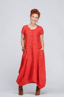 Платье бохо лён 433