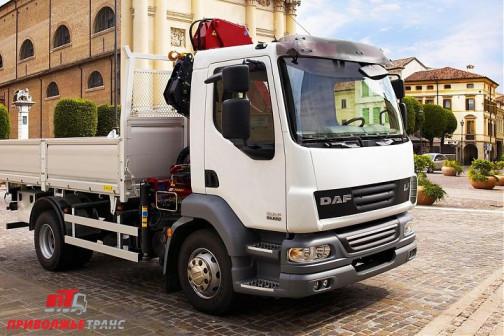 Бортовой грузовик DAF FA LF 45.160 с КМУ