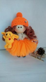 Интерьерная кукла Апельсинка