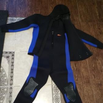 Гидрокостюм для подводной охоты (брюки+куртка) 5мм YSD1341 3 размеры 44 46
