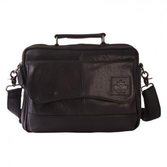 Горизонтальная мужская сумка через плечо и с ручкой Canada BL1253 из натуральной кожи